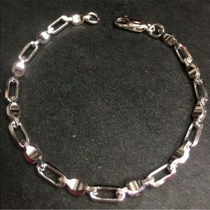 Jewelry - New Solid 925 Silver Cable and Baht Bracelet